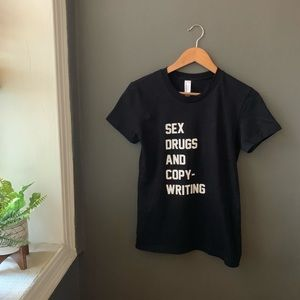 American Apparel • sex drugs & copy writing tee